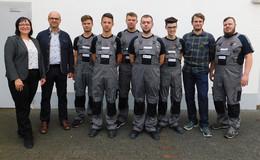 Nun lernen insgesamt 16 Auszubildende im Maschinenbauunternehmen