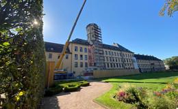 Einen Aufzug für den Turm des Stadtschlosses - Aufwendige Komplettsanierung