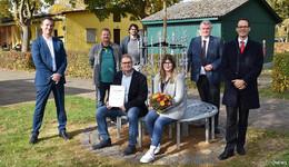 Preisgekröntes Metallobjekt schmückt jetzt die Kleingartenanlage Johannisau