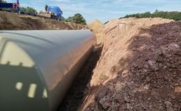 Investition in den Brandschutz: neue Löschwassertanks fürs Gewerbegebiet