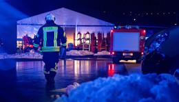 Auf Gelände einer Industriefirma: Container fängt Feuer