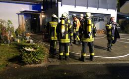 Feuerwehr zu Kellerbrand in Eckweisbach gerufen - Starke Rauchentwicklung