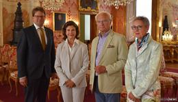 Königin Silvia und König Carl Gustaf von Schweden ganz privat in Fulda
