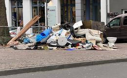 Sperrmüll in der Innenstadt - Stadt Fulda greift ein und räumt auf