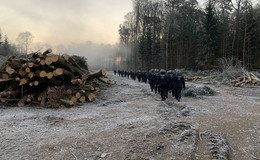 22. Einsatztag im Danni bricht an: Polizeikräfte vor Ort