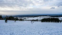 Erstes Ski-Wochenende auf dem Hoherodskopf - Temperaturen werden milder