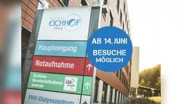 Gute Nachrichten: Krankenhaus Eichhof öffnet wieder für Besucher ab Montag