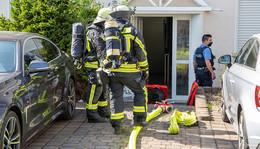 Essen auf Herd fängt Feuer: Feuerwehreinsatz auf dem Aschenberg
