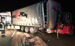 Unfall auf der A7: Zu schnell mit Lkw unterwegs- 85.000 Euro Schaden