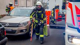 Feuerwehreinsatz in der Schillerstraße - Essen angebrannt