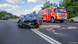 Seat gegen Porsche: Unfall auf B27 in Höhe Bernhards
