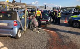 Frontalunfall auf der Kohlhäuser Straße: Eine verletzte Person
