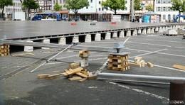 Hessentag im Aufbau: die Landesausstellung nimmt Gestalt an