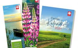 Caritas-Kalender 2021 liegen ab sofort im Laden am Dom zum Verkauf bereit