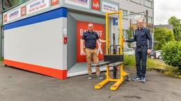 Neue Leinweber-Baustoffbox am Bellinger Tor eingeweiht