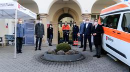 Malteser-Bürgertestzentrum am Herz-Jesu-Krankenhaus eröffnet