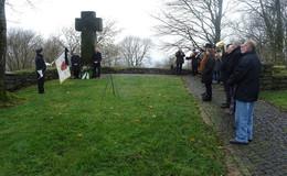 Gedenkfeier am Ehrenfriedhof auf dem Schlossberg