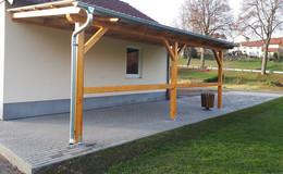 Förderung vom Land: Neue Pflasterfläche und Überdachung für den TSV Süß