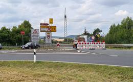 Großbaustelle Frankfurter Straße: Einseitige Vollsperrung nun aktiv