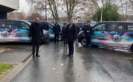 Im Einsatz für die Zukunft der hessischen Polizei: Sieben Fahrzeuge übergeben