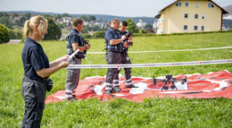 Nachgefragt: Drohnenstaffel Neuhof während Indienststellung direkt im Einsatz