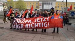 1.Mai-Kundgebung: Wir sagen Nein zum Stellenabbau in unserer Gummi
