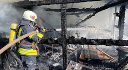Gartenhütte in Breitenbach ausgebrannt - Ursache unklar