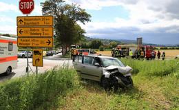 Stoppschild missachtet? Crash auf B83 bei Baumbach