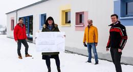 Bürgermeister Möller zufrieden mit Baufortschritt des Kindergartens Gundhelm