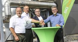 Aus Müll wird Bio-Erdgas - RhönEnergie nimmt neue Wärmeanlage in Betrieb