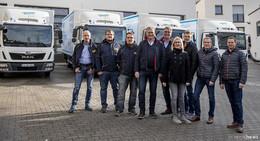 Sechs neue MAN-Lkw für die Flotte der Großwäscherei Diener