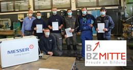 BBZ Mitte hat frisch zertifizierte Flammricht-Fachkräfte ausgebildet