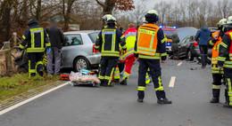 Unfall zwischen Pilgerzell und Dirlos - Hund im Auto