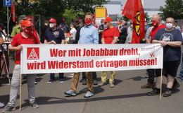 Hohe Beteiligung am 24Stunden-Warnstreikbei VitescoBebra und Mühlhausen