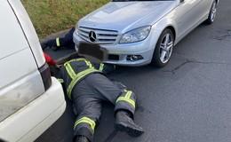 Tierischer Einsatz für die Feuerwehr: Katze aus Motorraum befreit
