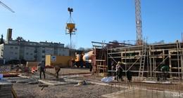 Ab jetzt geht's nach oben: Neues Feuerwehrgerätehaus wächst