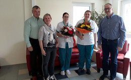 Erfolgreiche Absolventen der Altenpflege im Seniorenzentrum Schlitzerland