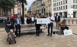 Straßenmusiker in der Bahnhofstraße: Zahlreiche Aktionen auf der Prachtmeile