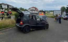 Unfall am Ortseingang von Niederjossa: zwei Verletzte