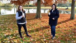 Der Herbst in seiner bunten Pracht lockte zum Verweilen im Kur- und Stiftspark