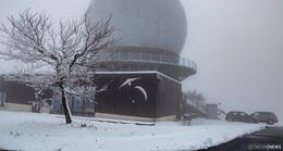 Der erste Schnee ist da: Weiße Landschaft auf der Wasserkuppe