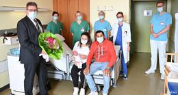 Große Freude im Klinikum Fulda über die 1.000. Geburt des Jahres