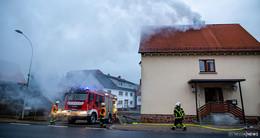 Kaminbrand im Wartenberger Hof in Angersbach geht glimpflich aus