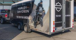 Prototyp der neuen Enduro-Harley heute zu besichtigen
