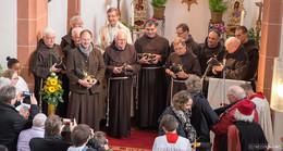 Dankandacht in der Severikirche für die Franziskaner vom Kloster Frauenberg