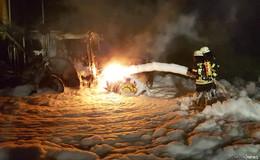 Maschinen fangen Feuer: schnelles Handeln verhindert Schlimmeres