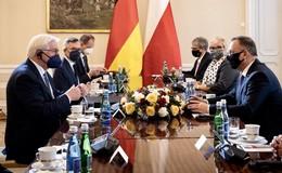 Europaminister Michael Roth (SPD) mit dem Bundespräsidenten in Polen