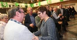 Standing ovation: CDU-Bundeschefin AKK spricht vor 350 Parteifreunden