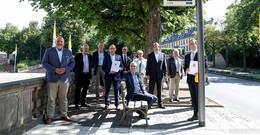 Verkehrsminister mit Scheck: 3,3 Mio Euro für Nahmobilität und ÖPNV