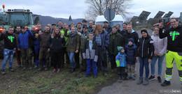 Bauern protestierten auch im Hersfelder Raum gegen die Politik